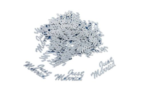Confetti - Just Married - Zilver - 350 stuks
