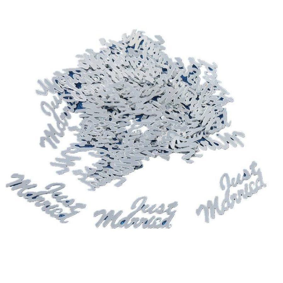 Confetti - Just Married  - Zilver - 350 stuks-1