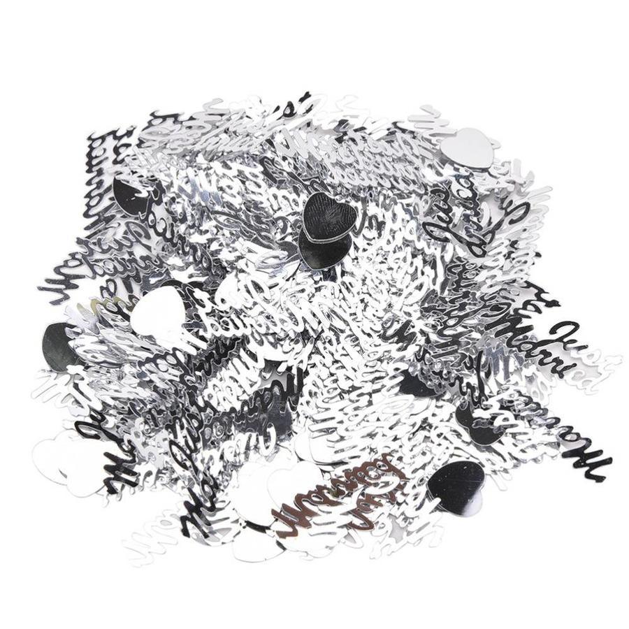 Confetti - Just Married  - Zilver - 350 stuks-2