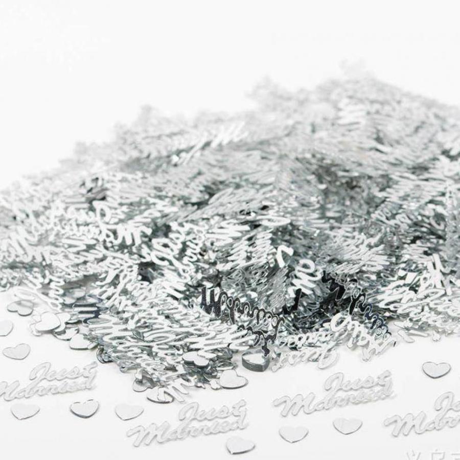 Confetti - Just Married  - Zilver - 350 stuks-3