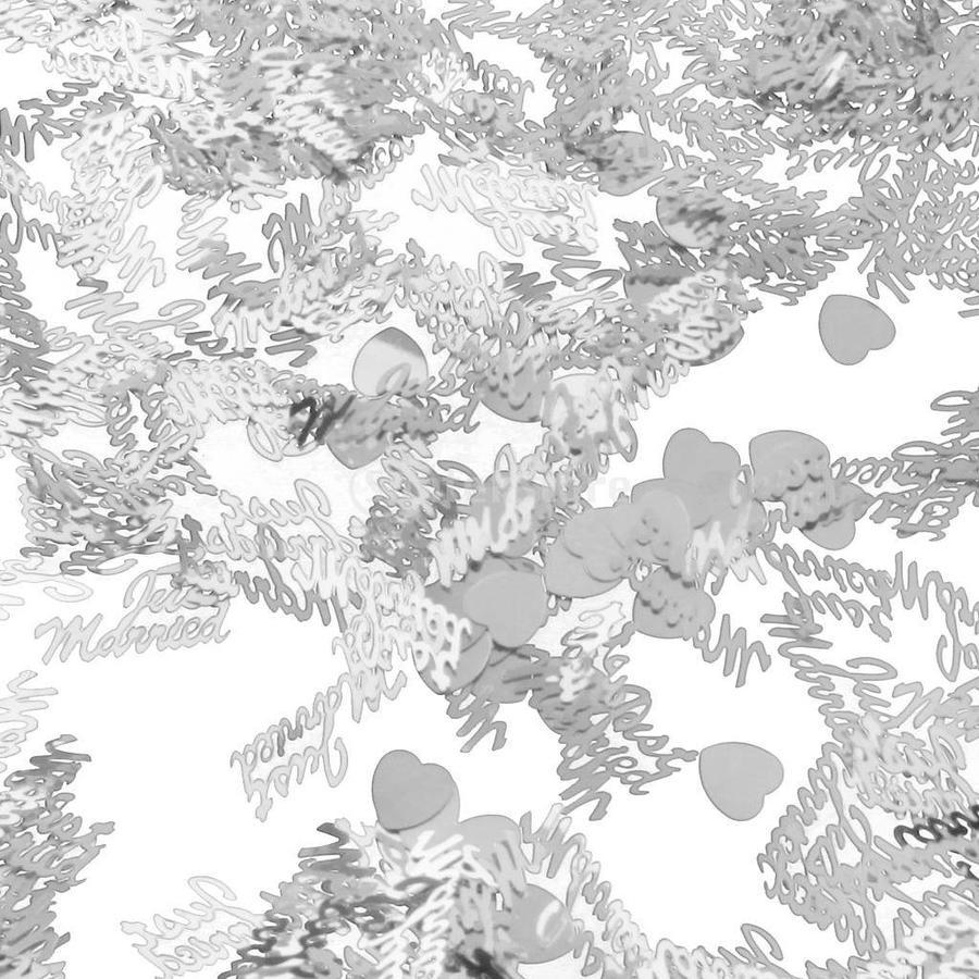Confetti - Just Married  - Zilver - 350 stuks-4