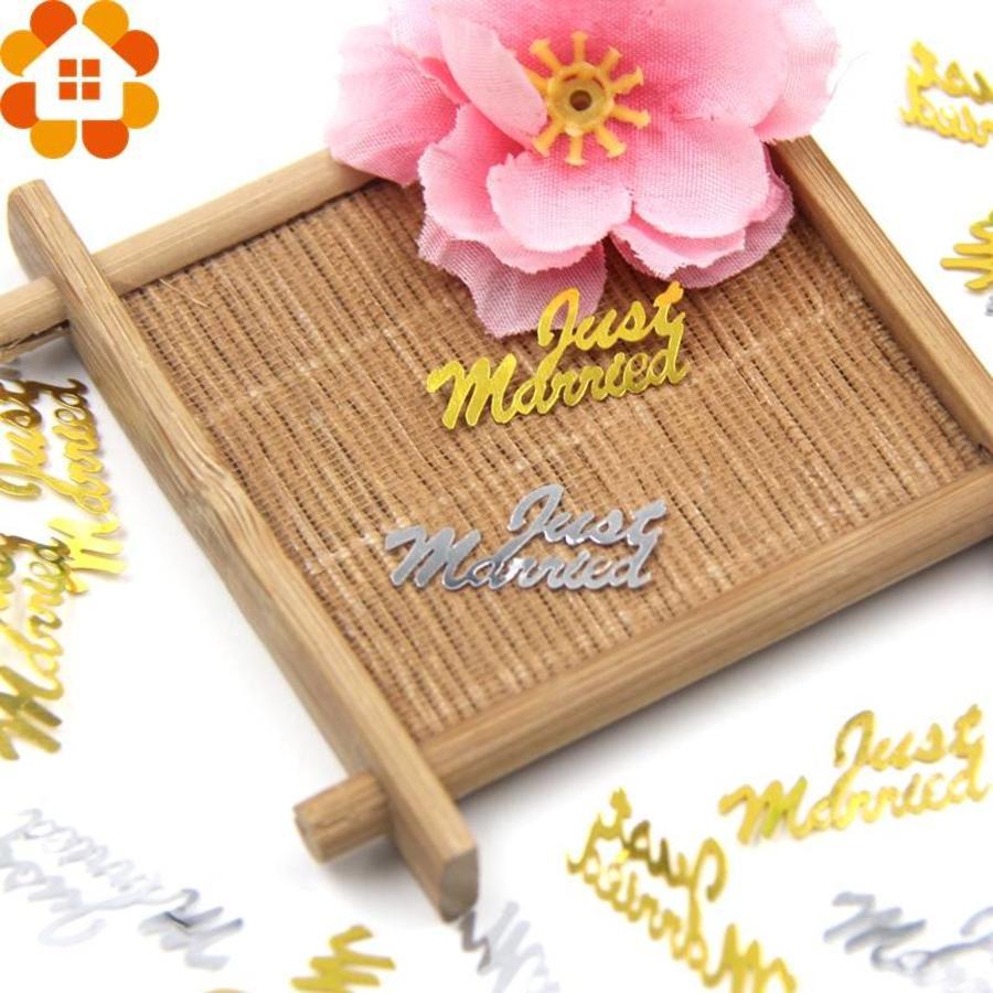Confetti - Just Married & Hartjes - Goud - 350 stuks-3