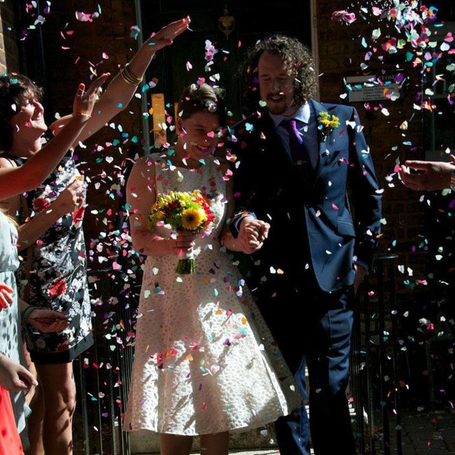 Confetti - Just Married & Hartjes - Goud - 350 stuks-4