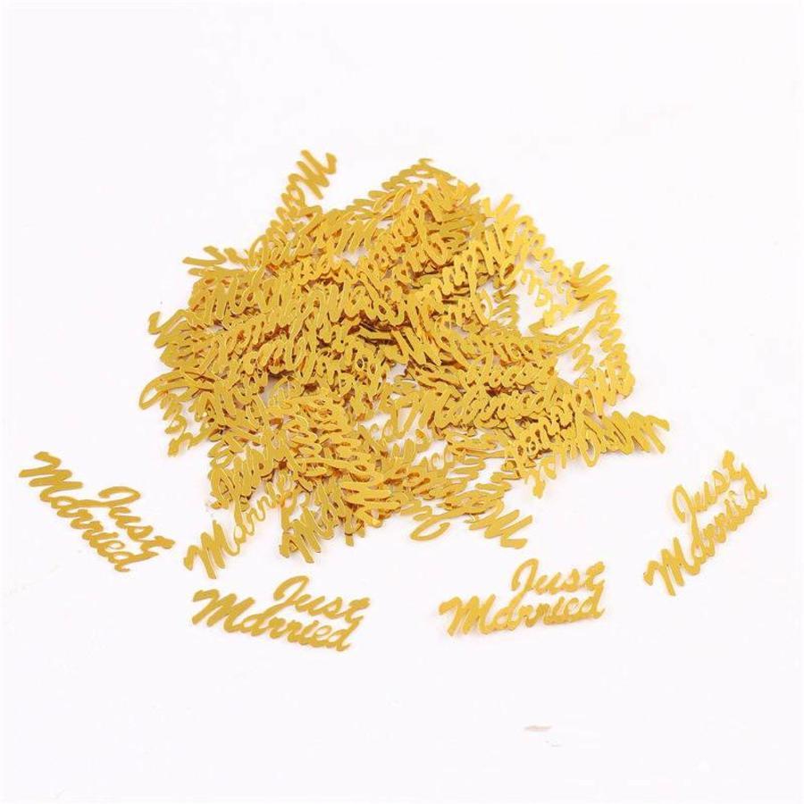 Confetti - Just Married & Hartjes - Goud - 350 stuks-2