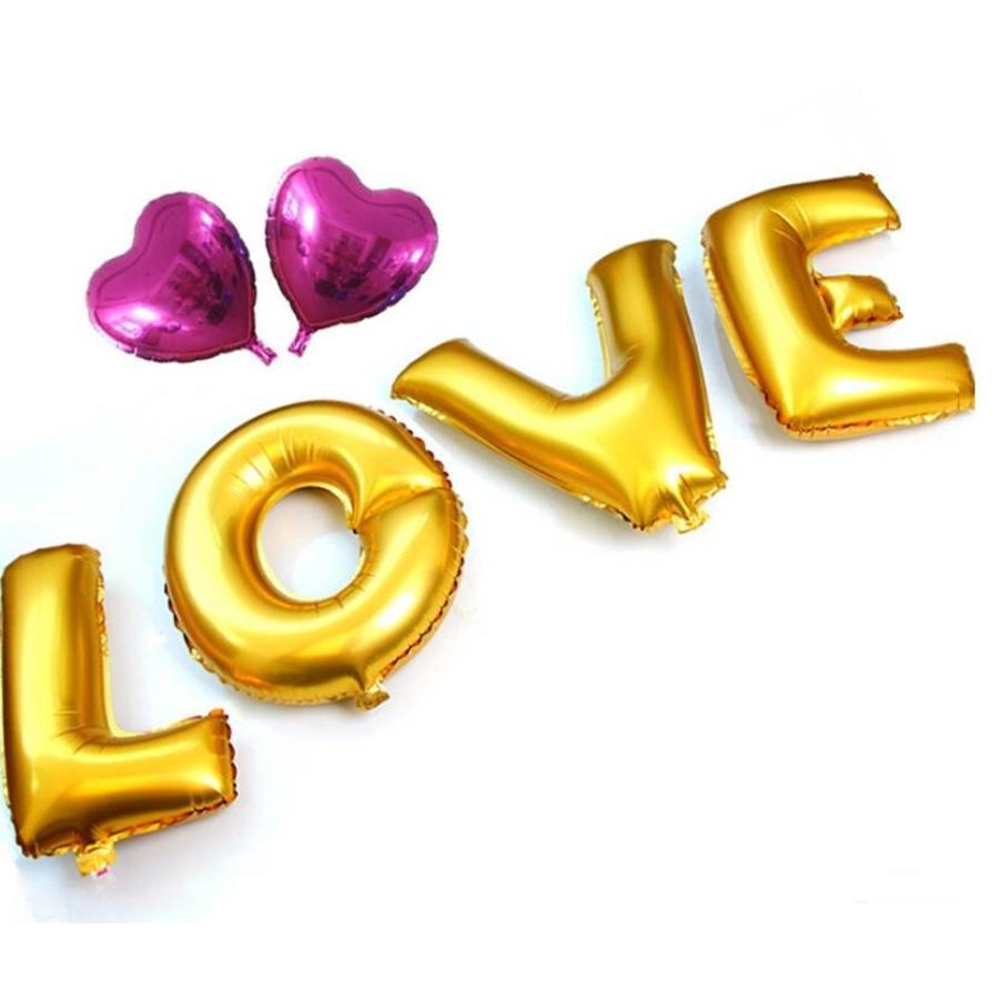SALE - LOVE - Helium Ballonnen - Goud-1