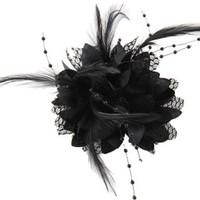thumb-Prachtige Zwarte Bloem voor in je Haar-1