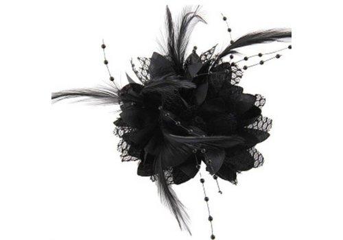 Prachtige Zwarte Bloem voor in je Haar