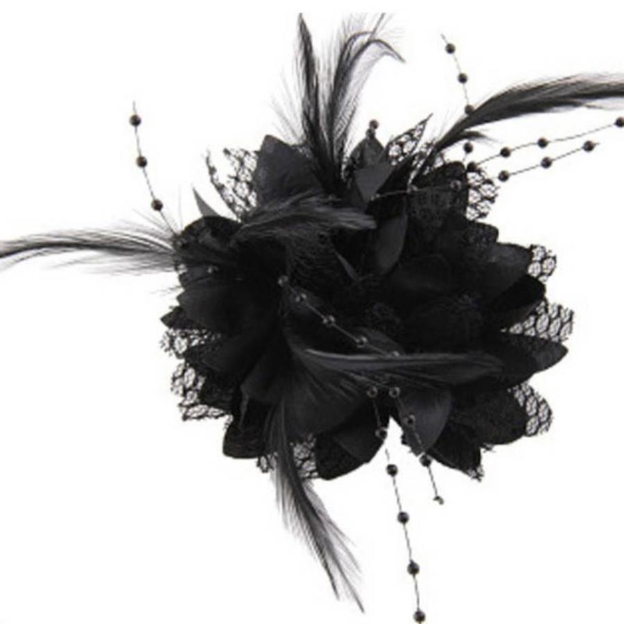 Prachtige Zwarte Bloem voor in je Haar-1
