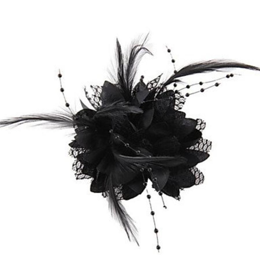 Prachtige Zwarte Bloem voor in je Haar-4