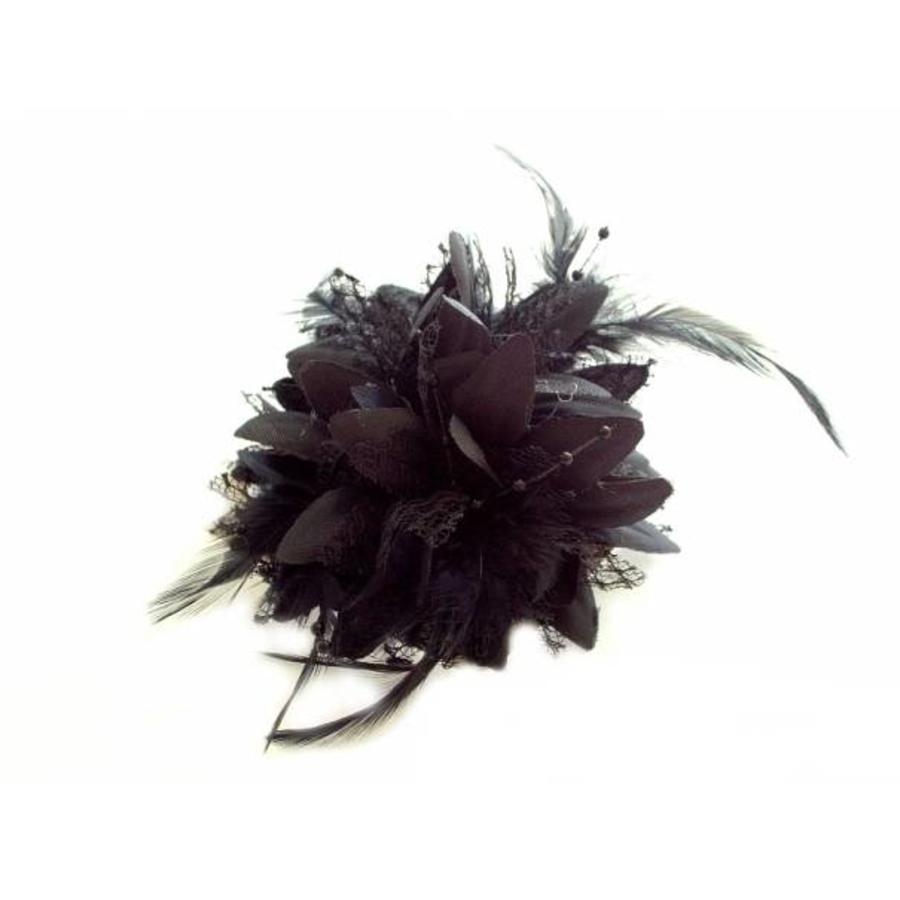 Prachtige Zwarte Bloem voor in je Haar-3