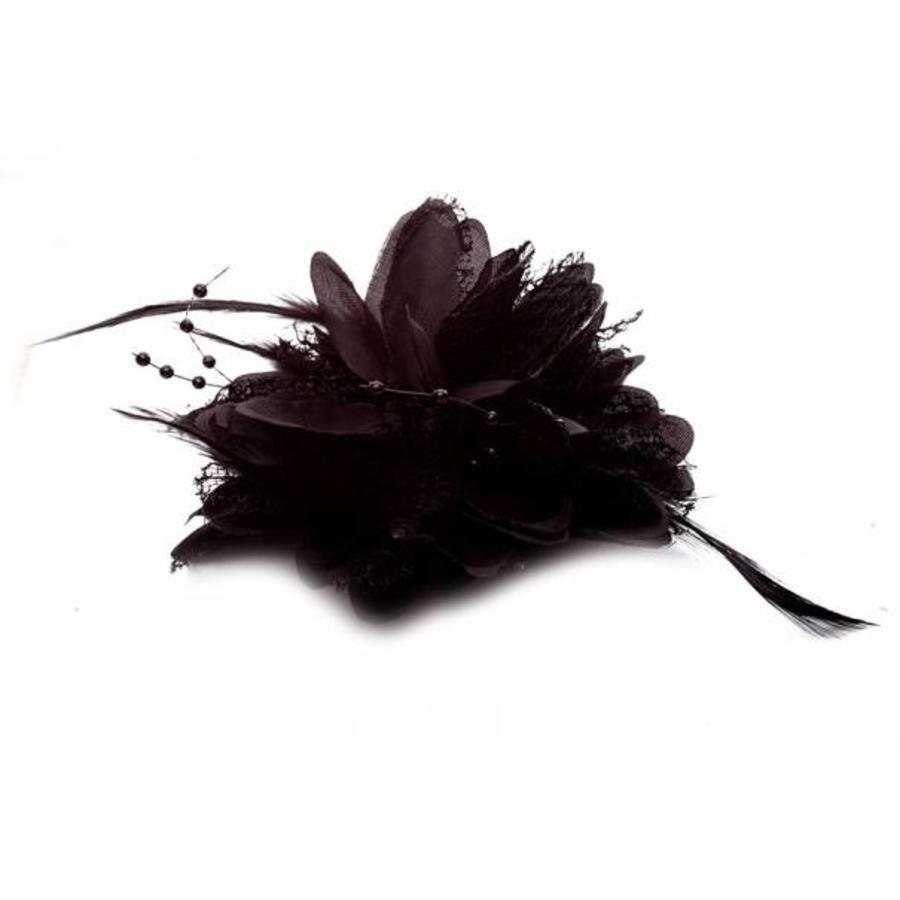 Prachtige Zwarte Bloem voor in je Haar-5