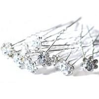 thumb-Hairpins – Zilver Grijs Roosje - 5 stuks-3