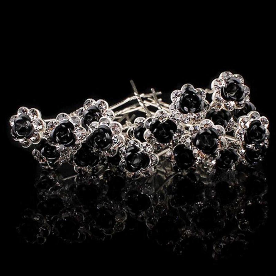 Hairpins – Zwart Roosje - 5 stuks-1