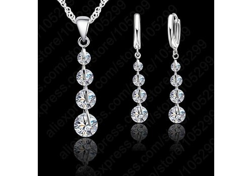 Chique Sieraden Set Clear Crystal