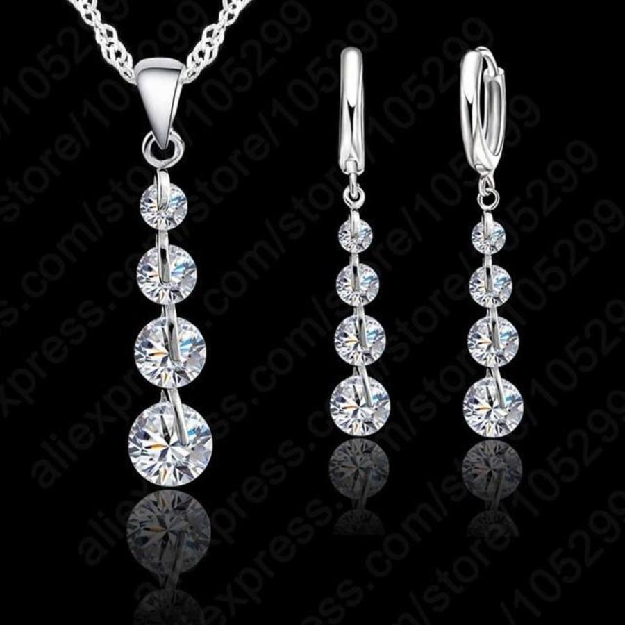 Chique Sieraden Set Clear Crystal-1