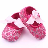 thumb-Roze Ballerina's / Babyschoentjes met Glitter - 0 tot 6 maanden-1