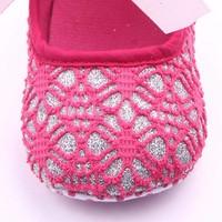 thumb-Roze Ballerina's / Babyschoentjes met Glitter - 0 tot 6 maanden-4