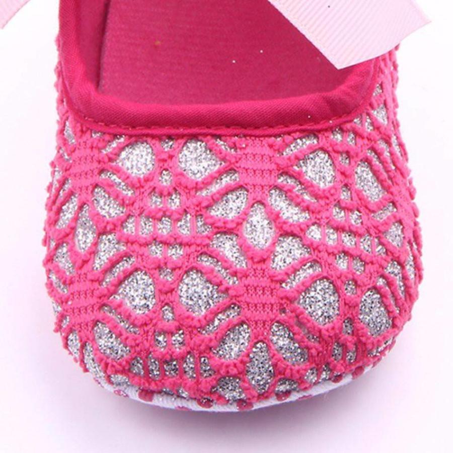Roze Ballerina's / Babyschoentjes met Glitter - 0 tot 6 maanden-4