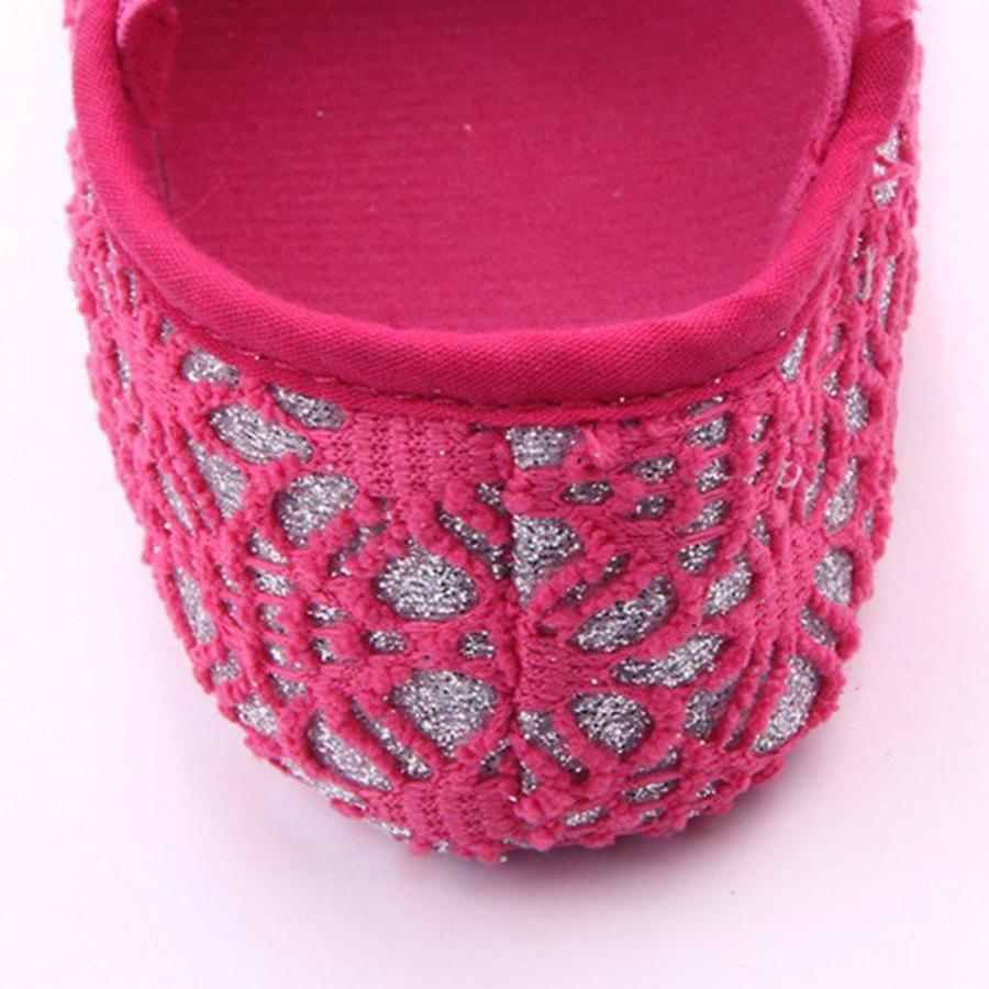 Roze Ballerina's / Babyschoentjes met Glitter - 0 tot 6 maanden-5