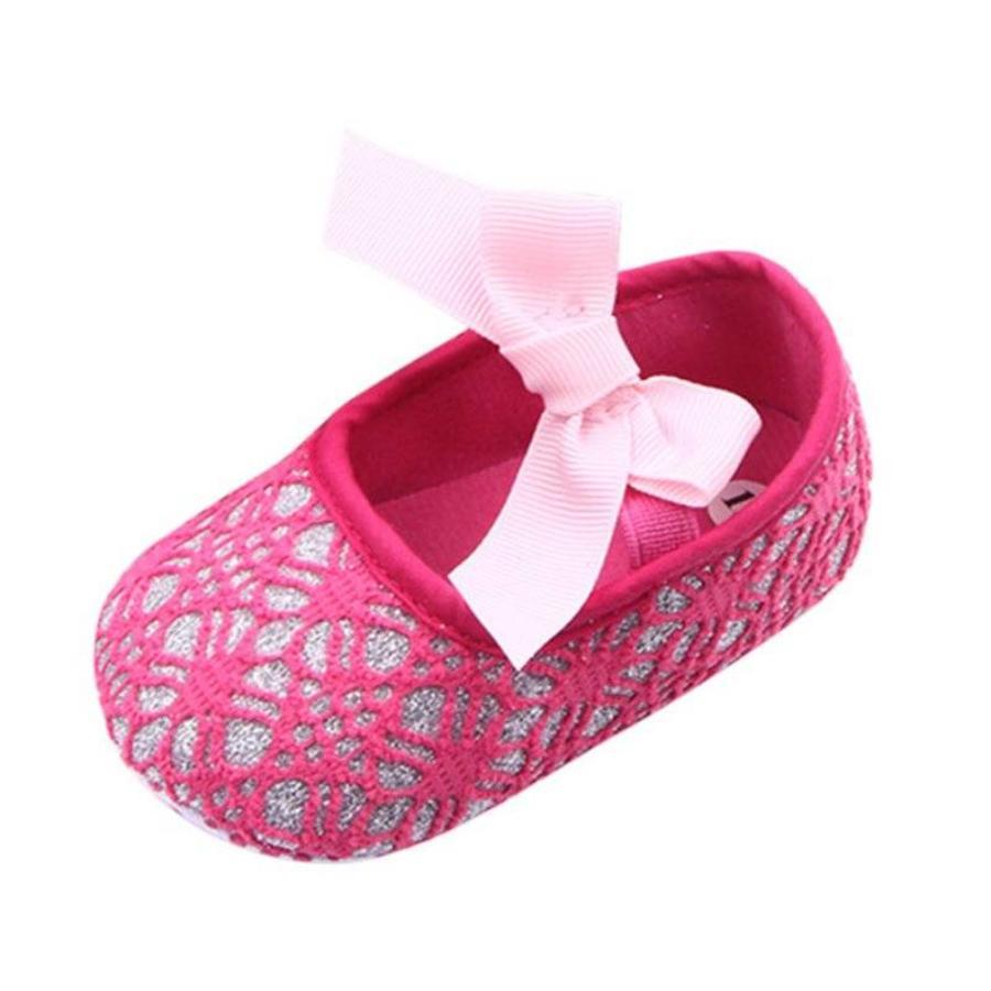 Roze Ballerina's / Babyschoentjes met Glitter - 0 tot 6 maanden-7