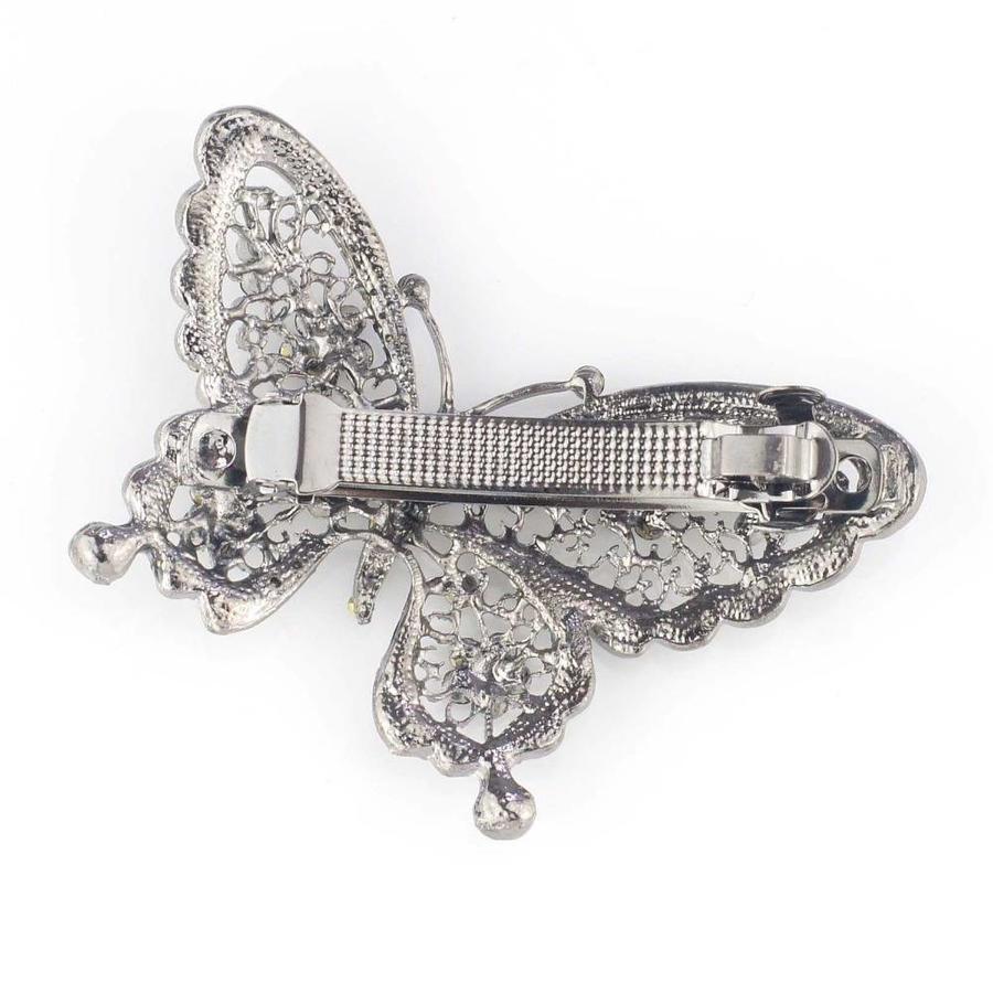 Fonkelende Vlinder Haarclip - Blauw-3