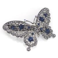 thumb-Fonkelende Vlinder Haarclip - Blauw-1