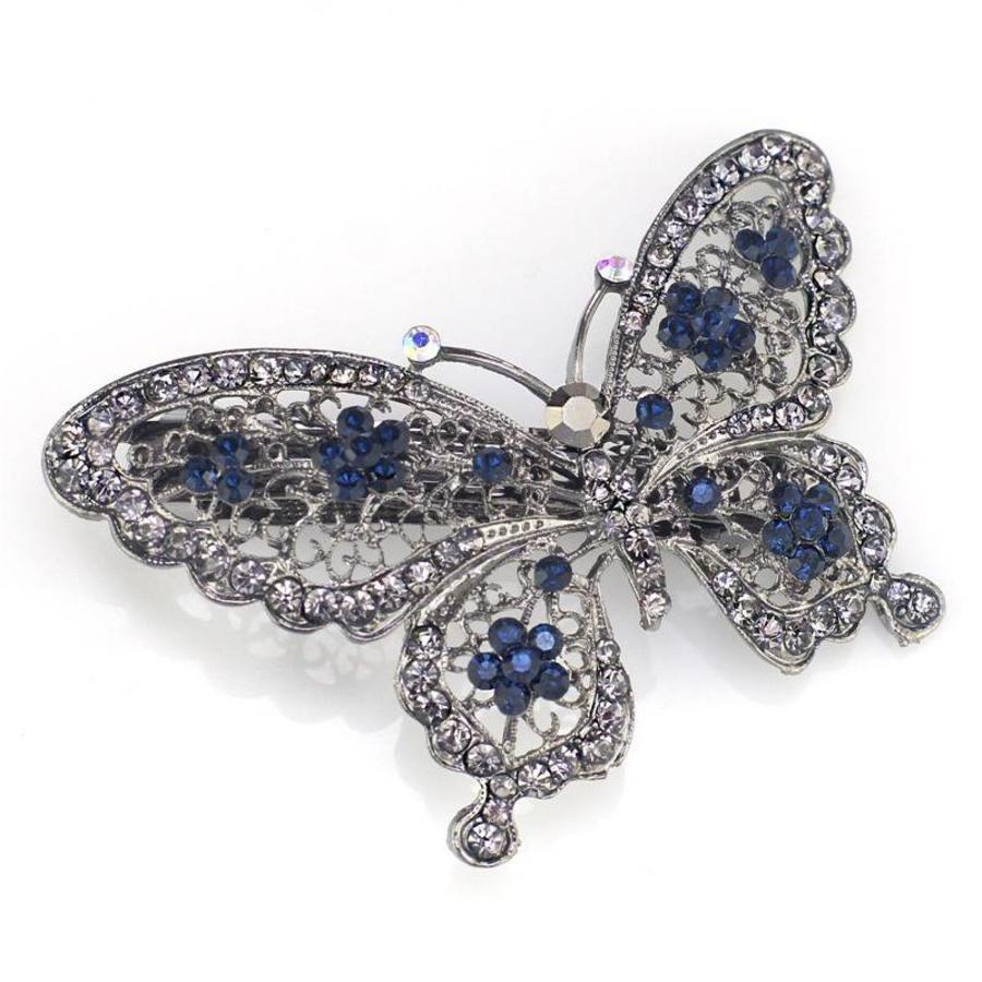 Fonkelende Vlinder Haarclip - Blauw-1