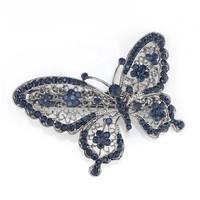 thumb-Fonkelende Blauwe Vlinder Haarclip-1