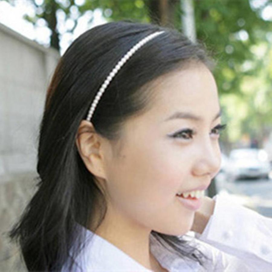 Diadeem / Haarband met Ivoorkleurig parels-2