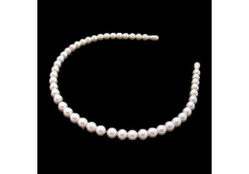Diadeem / Haarband met Ivoorkleurig parels