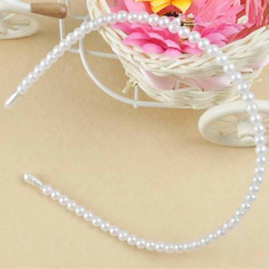 Diadeem / Haarband met Ivoorkleurig parels-3