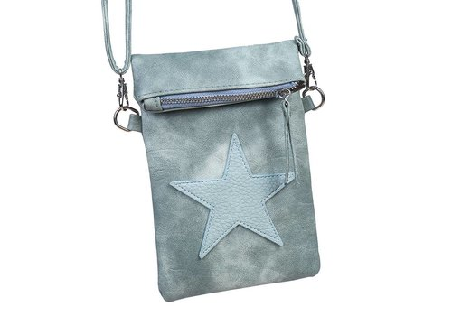 SALE - Flip top star bag / schoudertas / Groen