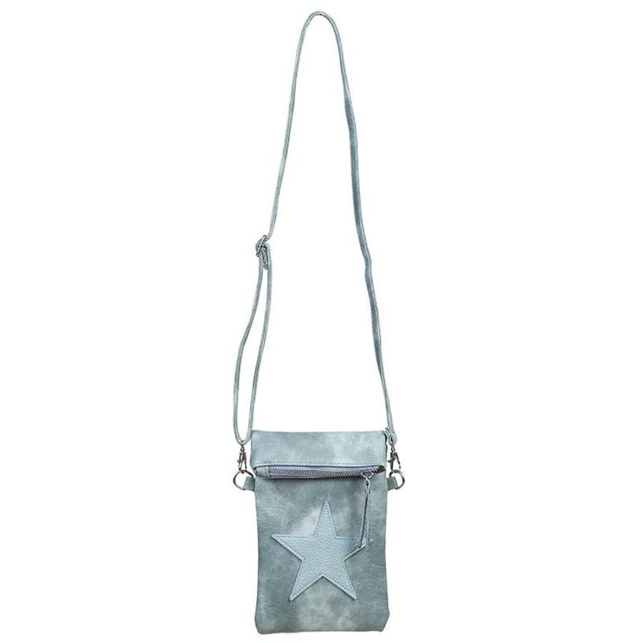 SALE - Flip top star bag / schoudertas / Groen-2