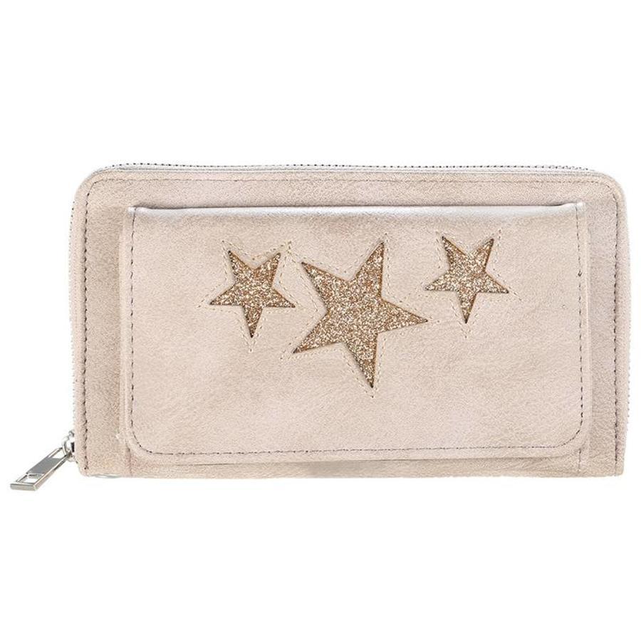 SALE - Portemonnee Sterren - Beige - Portemonnee Pocket Stars-1