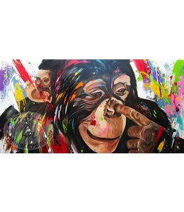 """160 x 80 cm schilderij """" Vinger in je neus """""""