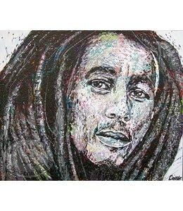"""Corrie 120 x 100 cm schilderij """" Bob Marley"""""""