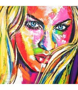 """Portret in """"Liz-Stijl"""" 60 x 60"""