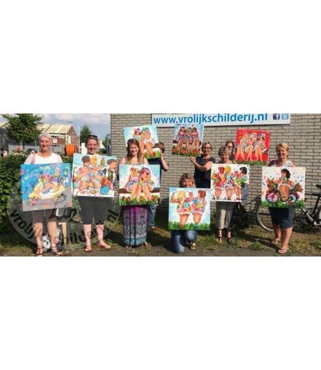 Workshop Dikke Dames van Vrolijk Schilderij