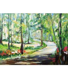 """Vrolijk Schilderij 80 x 60 cm schilderij  """"Bos"""""""