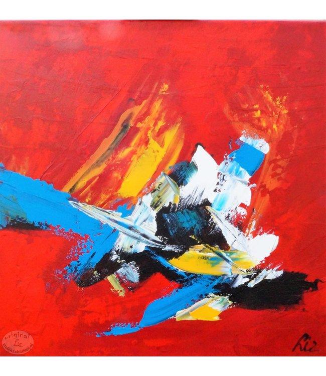 """Vrolijk Schilderij 60 x 60 cm schilderij  """"Abstract"""""""