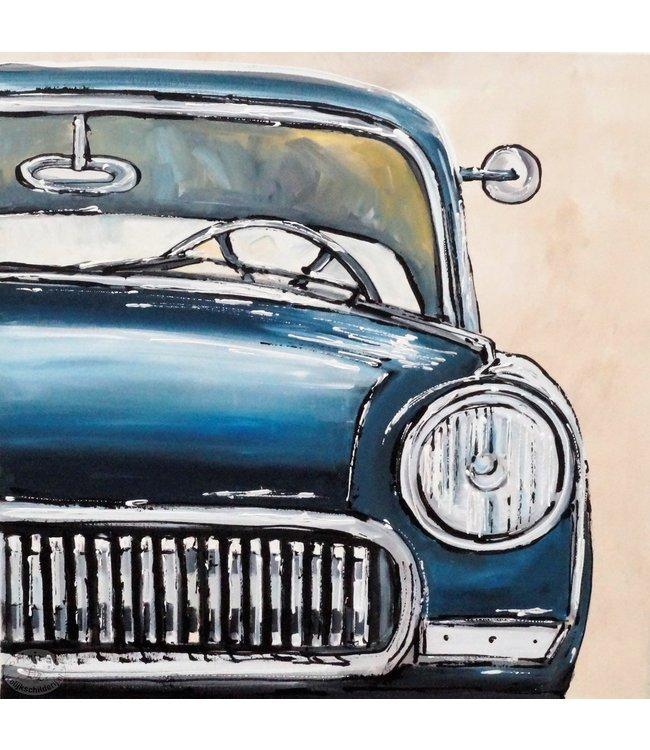 """Vrolijk Schilderij 60 x 60 cm schilderij  """"Car"""""""