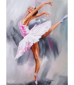 """Vrolijk Schilderij 60 x 80 Schilderij """"Danseres"""""""
