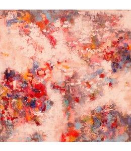 """Vrolijk Schilderij 100 x 100 cm schilderij """" Abstract I"""""""