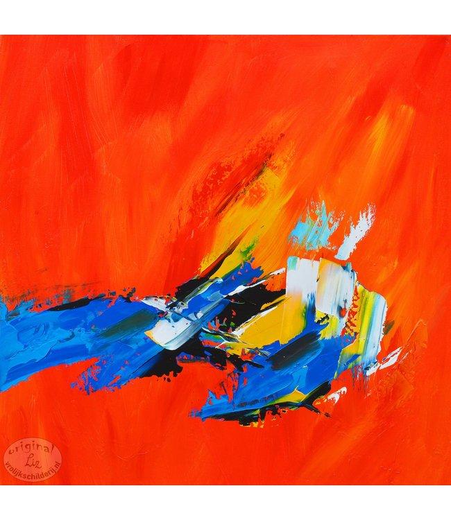 """Vrolijk Schilderij 60 x 60 cm schilderij  """"Abstract II"""""""