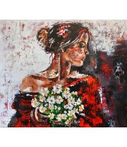 """Corrie 120 x 100 cm schilderij  """"Wedding"""""""