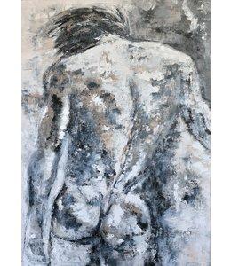 """Corrie 100 x 150 cm schilderij  """"Torso"""""""