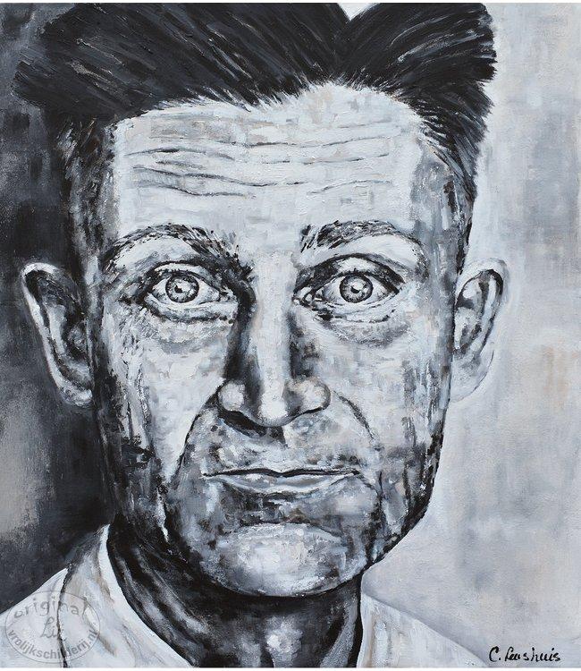 """Corrie 100 x 120 cm schilderij """" Old man """""""