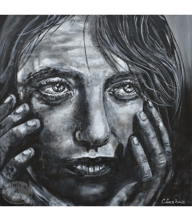 """Corrie 120 x 120 cm schilderij """" Mysterious"""""""