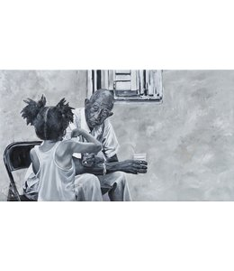"""Corrie 160x90 cm schilderij """"Zuid Amerikaans tafereel"""""""