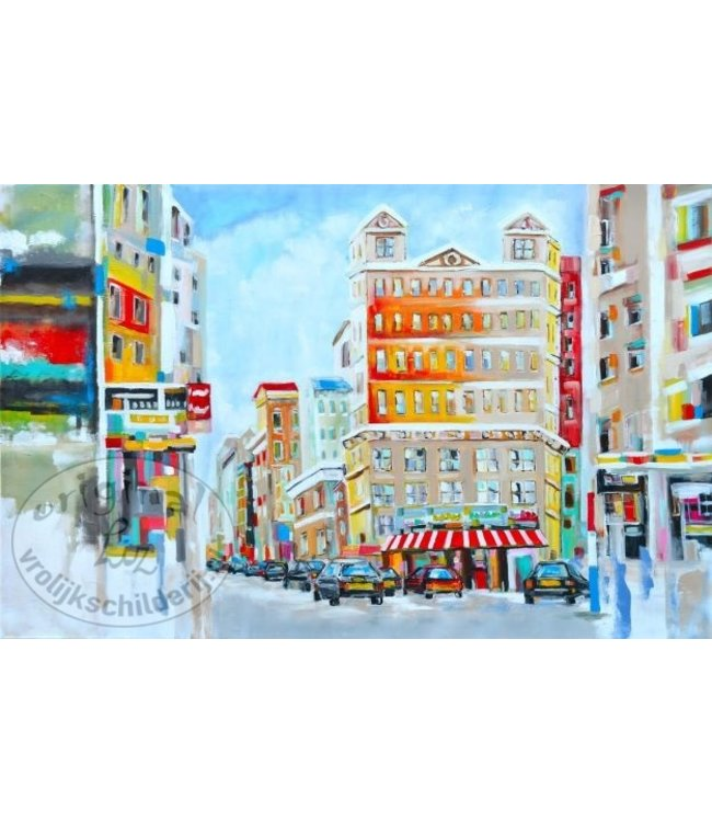 """Corrie 100x150 cm schilderij """"Cityview"""""""